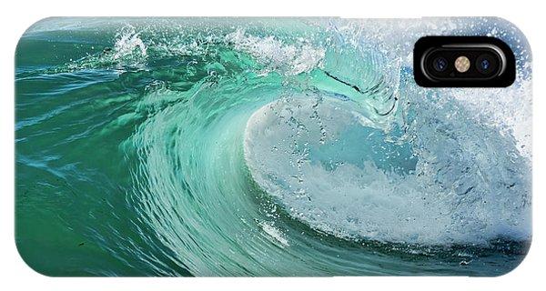 Newport Beach Wave Curl IPhone Case