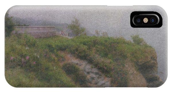 Newport Cliff Walk In The Fog IPhone Case