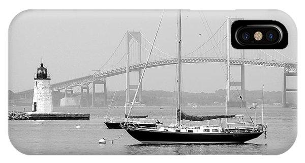 Newport, Rhode Island Serene Harbor Scene IPhone Case