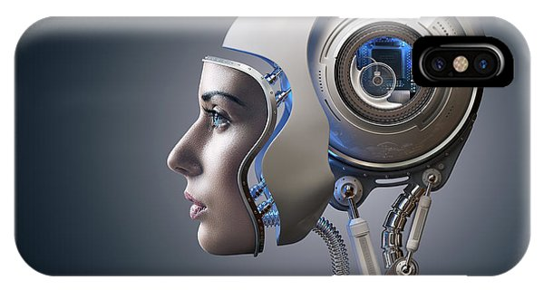 Robot iPhone Case - Next Generation Cyborg by Johan Swanepoel