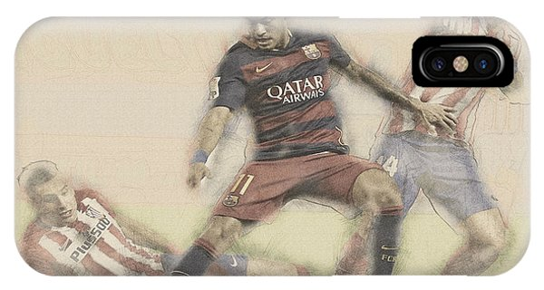 Wayne Rooney iPhone Case - Neymar Fight For The Bal by Don Kuing