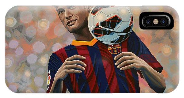 Or iPhone Case - Neymar by Paul Meijering