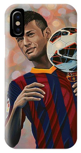 Players iPhone Case - Neymar by Paul Meijering