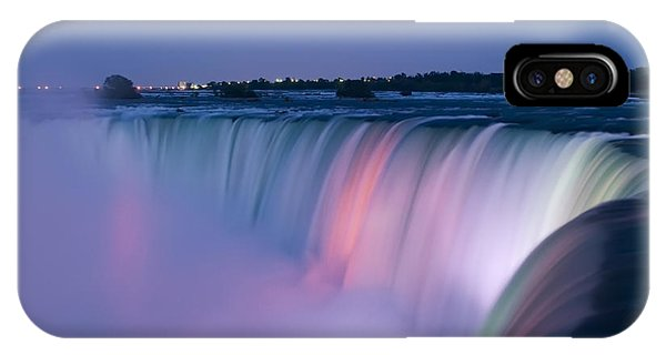 Dark Blue iPhone Case - Niagara Falls At Dusk by Adam Romanowicz
