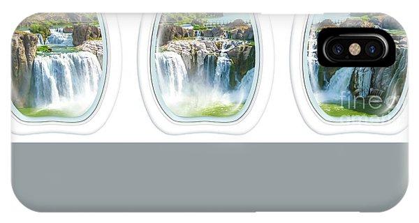 Niagara Falls Porthole Windows IPhone Case