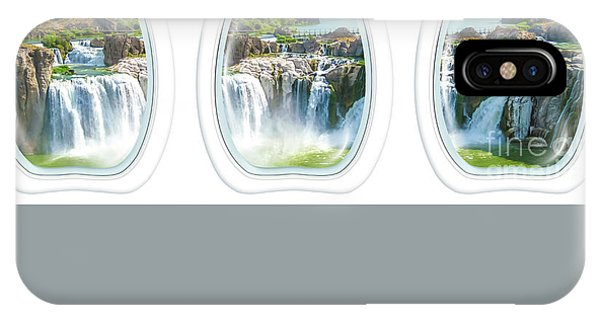 Niagara Falls Porthole Windows IPhone Case