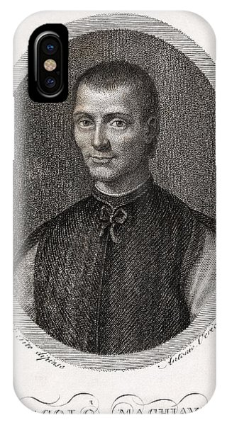 Cunning iPhone X Case - Niccolo Machiavelli, Italian Philosopher by Middle Temple Library