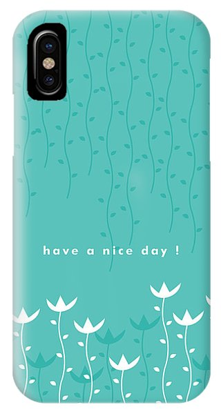 Illustration iPhone Case - Nice Day by Kathleen Wong