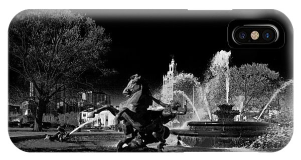 IPhone Case featuring the photograph Nichols Fountain by Jim Mathis