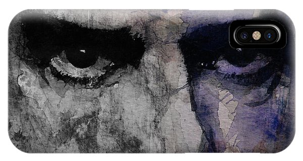 Punk Rock iPhone Case - Nick Cave Retro by Paul Lovering