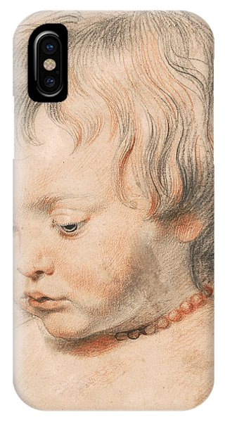 Baroque iPhone Case - Nicolaas Rubens Wearing A Coral Neckless by Peter Paul Rubens