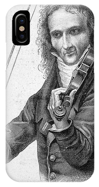 Violin iPhone X Case - Nicolo Paganini by Granger