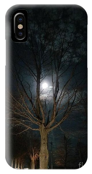 Night At The Graveyard IPhone Case