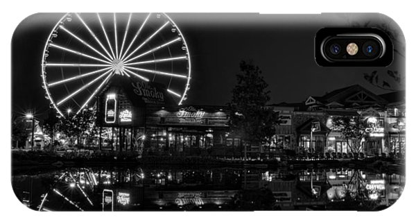 Night At The Island In Black And White IPhone Case
