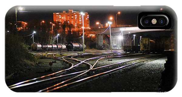 Night At The Railyard IPhone Case