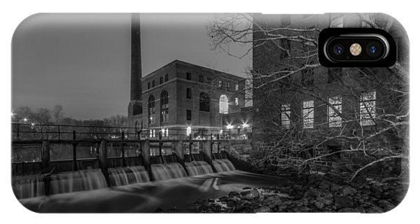 Night At The River 2 In Black And White IPhone Case