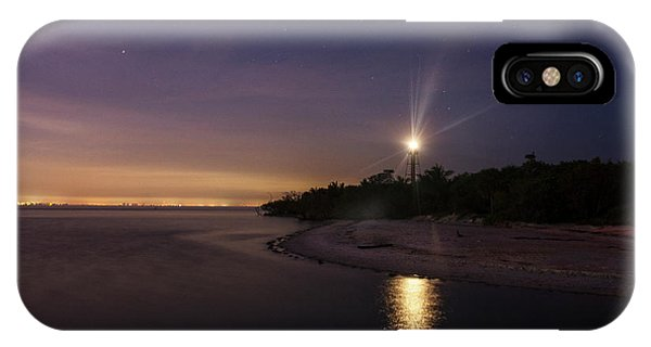 Night At The Sanibel Lighthouse IPhone Case