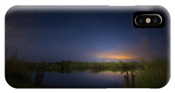 Night Brush Fire In The Everglades IPhone Case