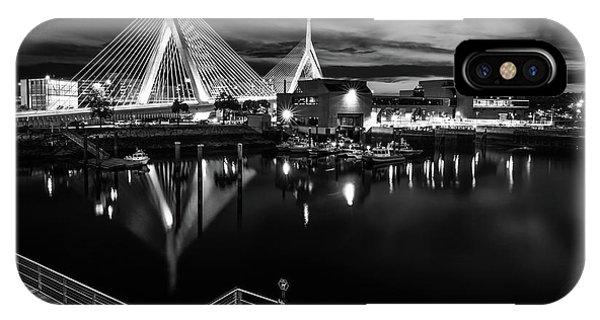 Night Falling On Zakim Bridge IPhone Case
