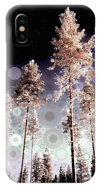 IPhone Case featuring the mixed media Night Falling by Susan Maxwell Schmidt