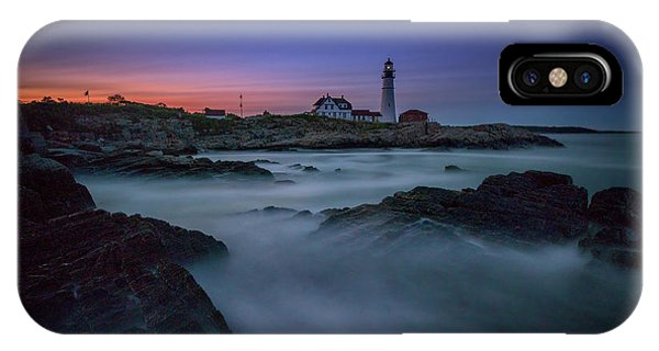 Night Falls On Portland Head IPhone Case