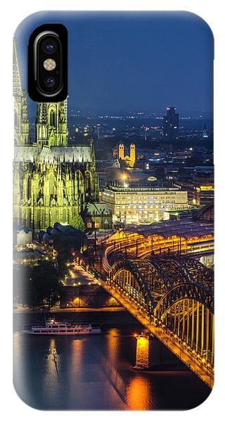 Night Falls Upon Cologne 1 IPhone Case
