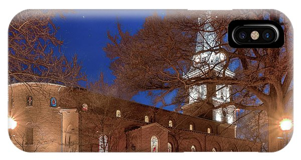 IPhone Case featuring the digital art Night Lights St Anne's In The Circle by Jim Proctor