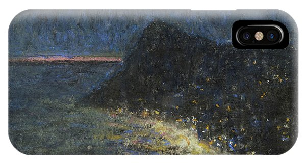 Ant iPhone Case - Night Motif From Capri by Ants Laikmaa