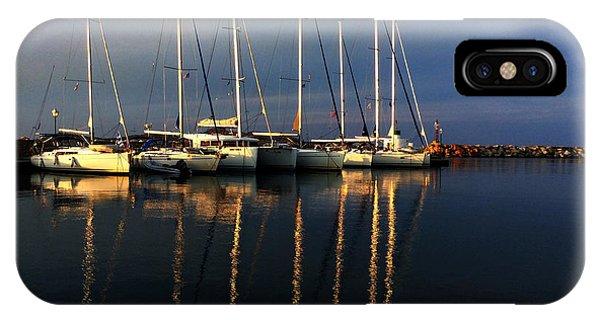 Night On Paros Island Greece IPhone Case