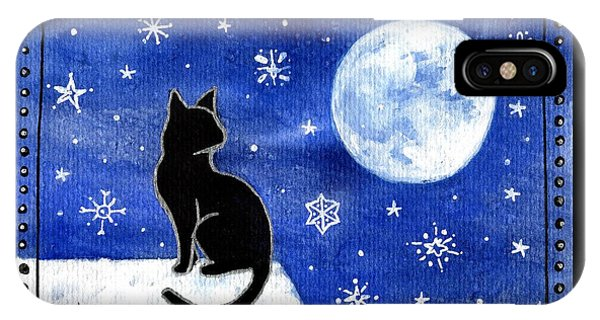 Night Patrol At Wintertime IPhone Case