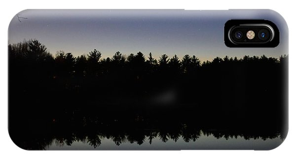 Night Reflects On The Pond IPhone Case