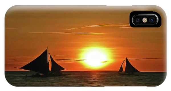 iPhone Case - Night Sail by Harry Warrick