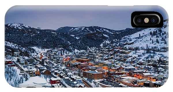 Night Scene In Park City. IPhone Case