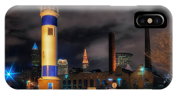 Night Scene Of The Old Powerhouse In Cleveland IPhone Case