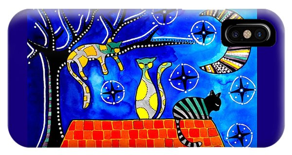 Night Shift - Cat Art By Dora Hathazi Mendes IPhone Case