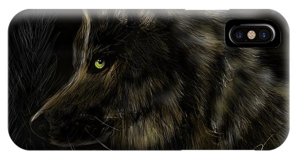 Night Silent Wolf IPhone Case