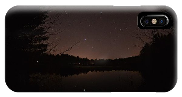 Night Sky Over The Pond IPhone Case