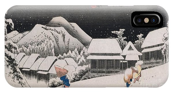 Winter iPhone Case - Night Snow by Hiroshige