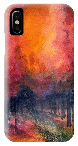 Night Time Among The Maples IPhone Case