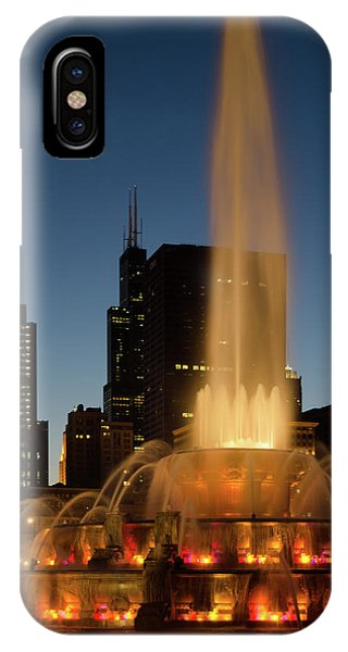 Night Time Fountain IPhone Case