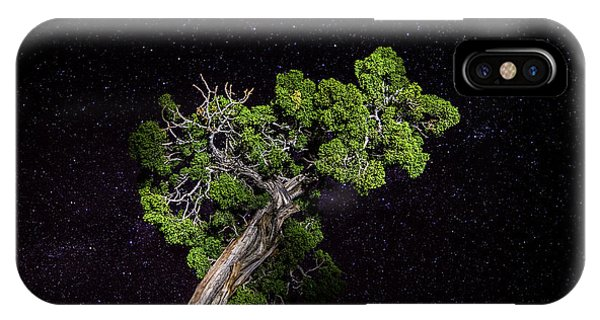 IPhone Case featuring the photograph Night Tree by T Brian Jones