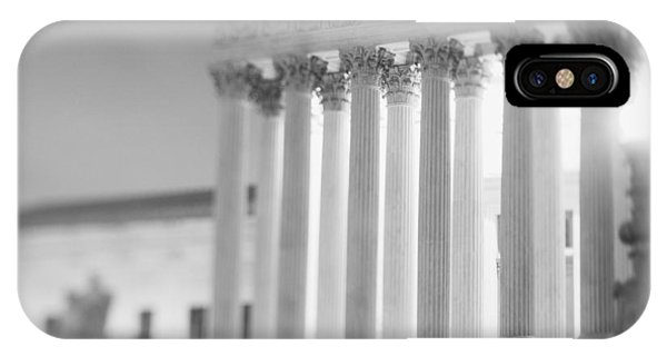 D.c. iPhone Case - Night Us Supreme Court Washington Dc by Panoramic Images