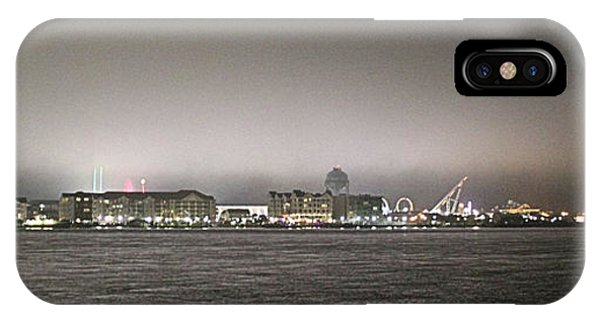 Night View Ocean City Downtown Skyline IPhone Case