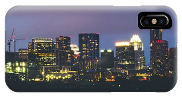 Night View Of Downtown Skyline In Winter IPhone Case