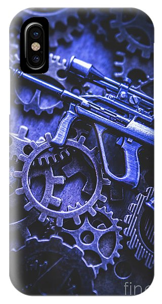 Anti iPhone Case - Night Watch Gears by Jorgo Photography - Wall Art Gallery