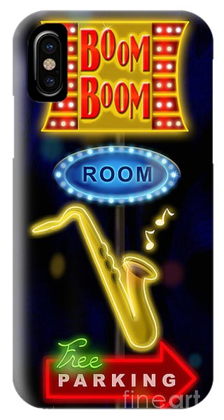 Bar iPhone Case - Nightclub Sign Boom Boom Room by Shari Warren