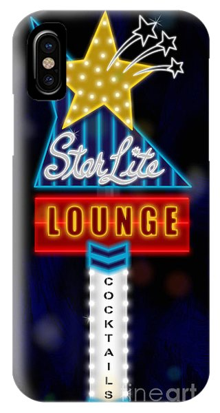 Bar iPhone Case - Nightclub Sign Starlite Lounge by Shari Warren