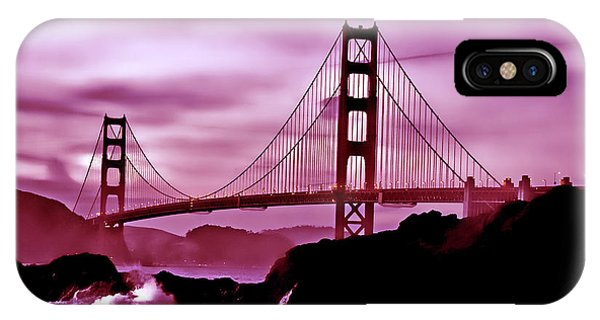 Nightfall At The Golden Gate IPhone Case