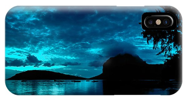 IPhone Case featuring the photograph Nightfall In Mauritius by Julian Cook