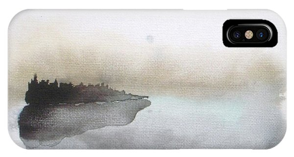 Abstract iPhone X Case - Nightfall On The Lake  by Vesna Antic